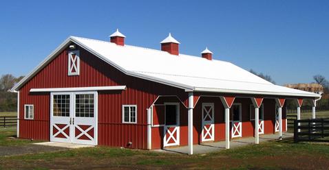 New Frontier Builders Pole Barns Shop Buildings Horse